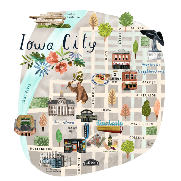 Iowa City Map | Revival Exclusive
