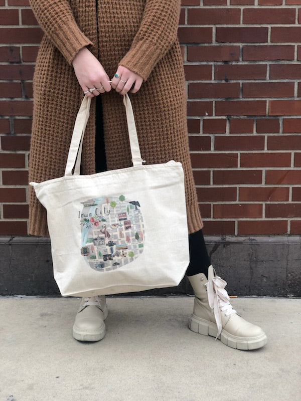 Iowa City Map Tote