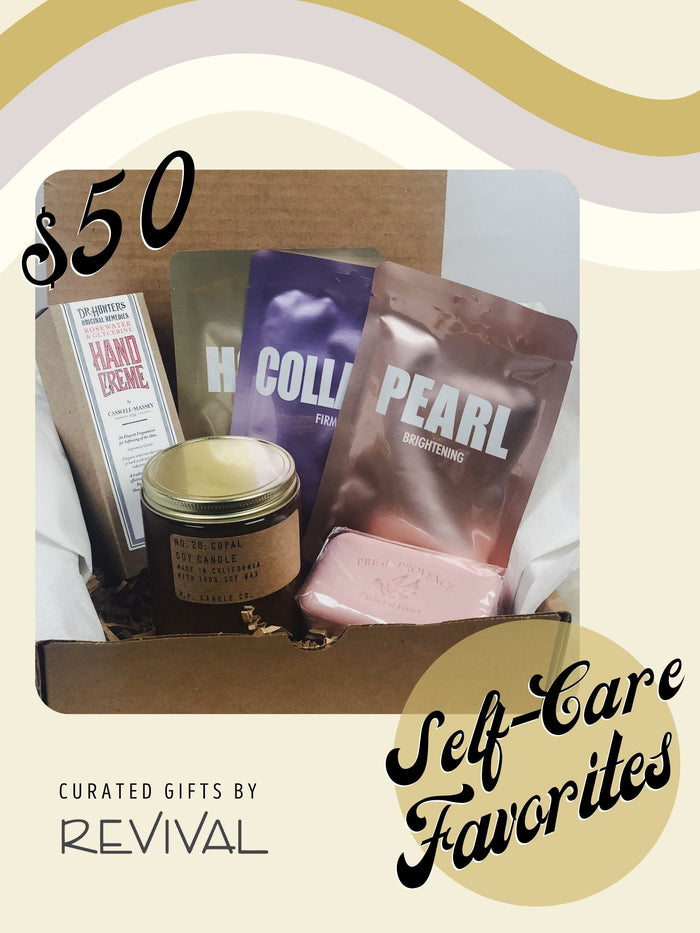 Curated Gift Boxes by Revival: Self-Care Favorites (3 price options)