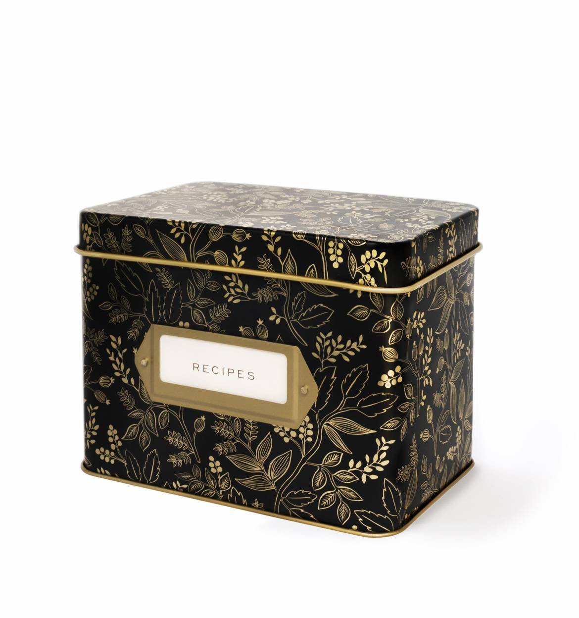 Recipe Tin Box / Queen Anne Floral