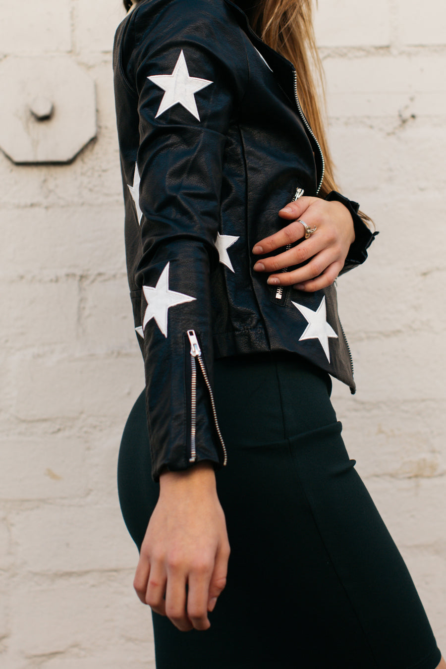 Star Moto Jacket / Black