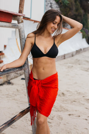 Lightweight Short Sarong / Red
