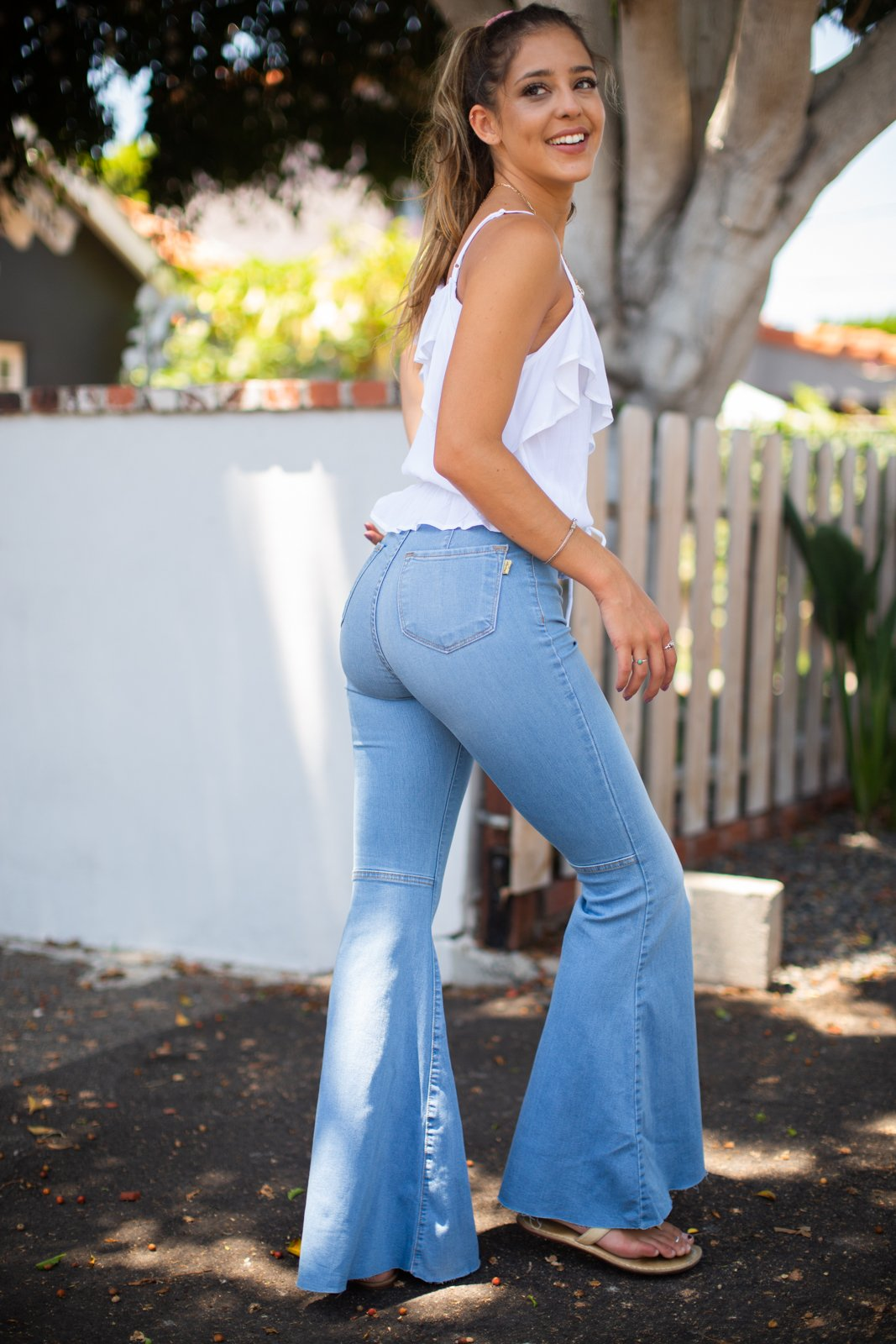 "11"" High Rise Super Flare Jean / Light"