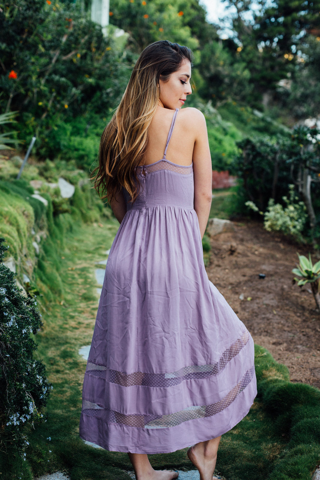 Lacey Hi-Lo Dress / Lilac
