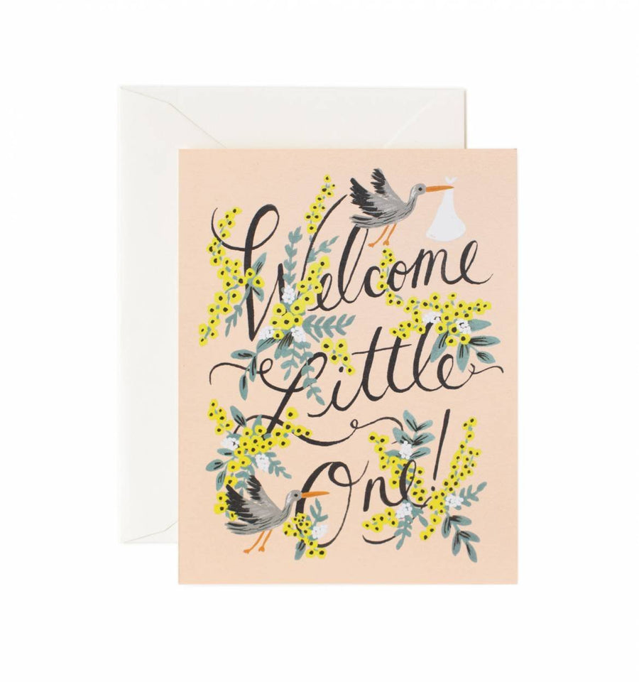 Welcome Little One Card / Ivory Envelope
