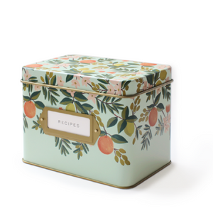 Recipe Tin Box / Citrus Floral