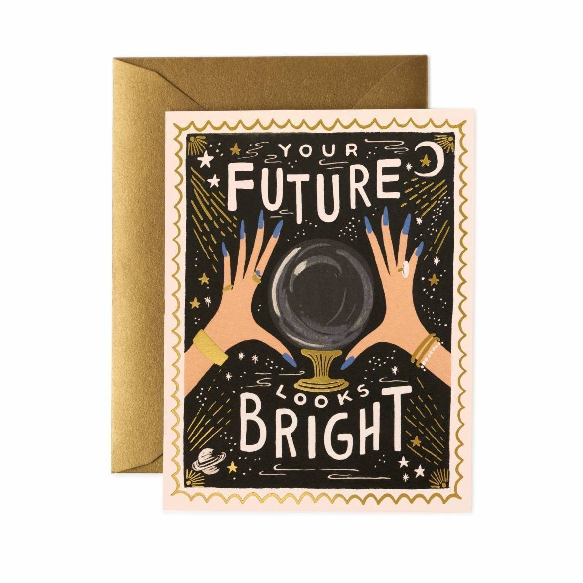 Your Future Looks Bright Card / Gold Envelope