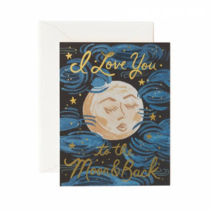 To The Moon & Back Card / Ivory Envelope