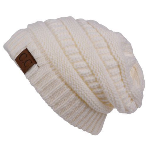 Cable Knit Beanie / Ivory