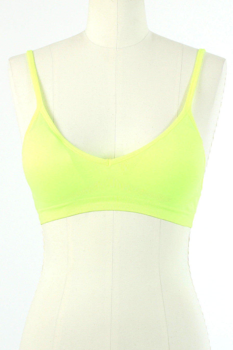 Seamless Plunging V Bra / Neon Yellow