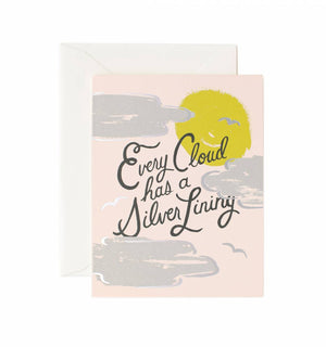 Silver Lining Card / Ivory Envelope