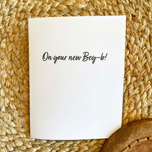 Greeting Card / Congrats Bey-B