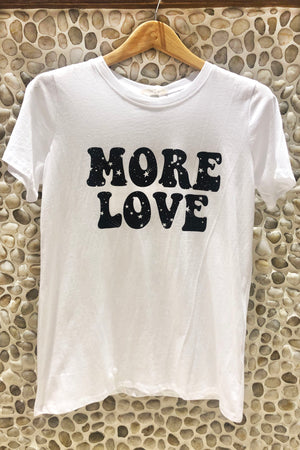 More Love Galaxy Font Graphic Tee / Ivory