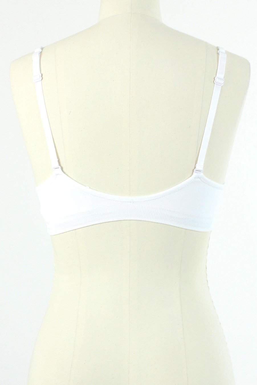 Seamless Plunging V Bra / White