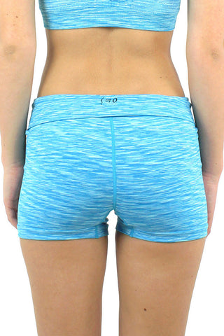 Space Knit Running Short / Turquoise