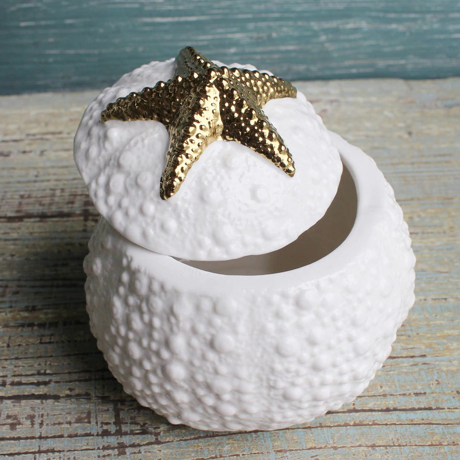 Ceramic Starfish Trinket Box