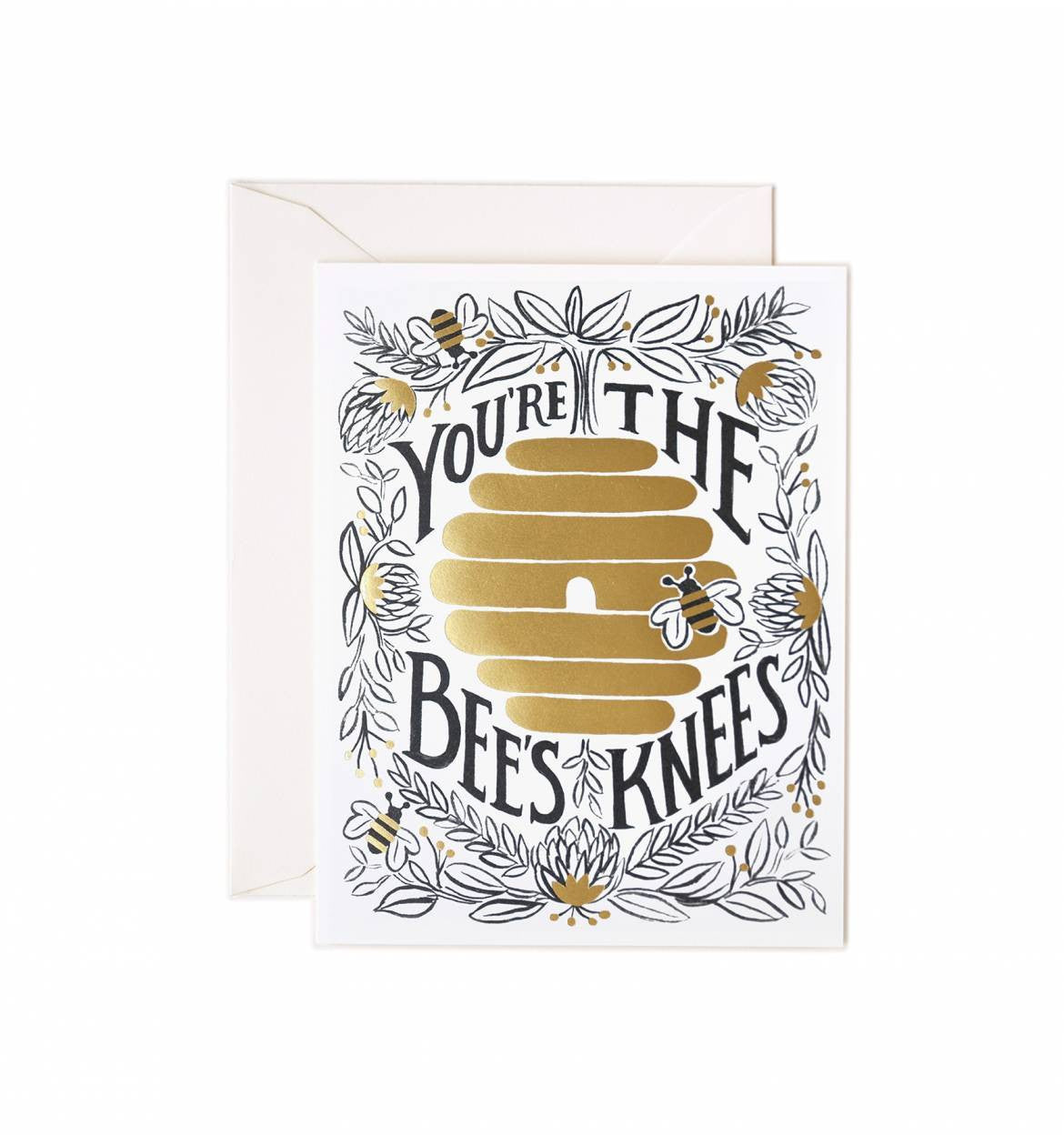 You're The Bees Knees Card / Ivory Envelope
