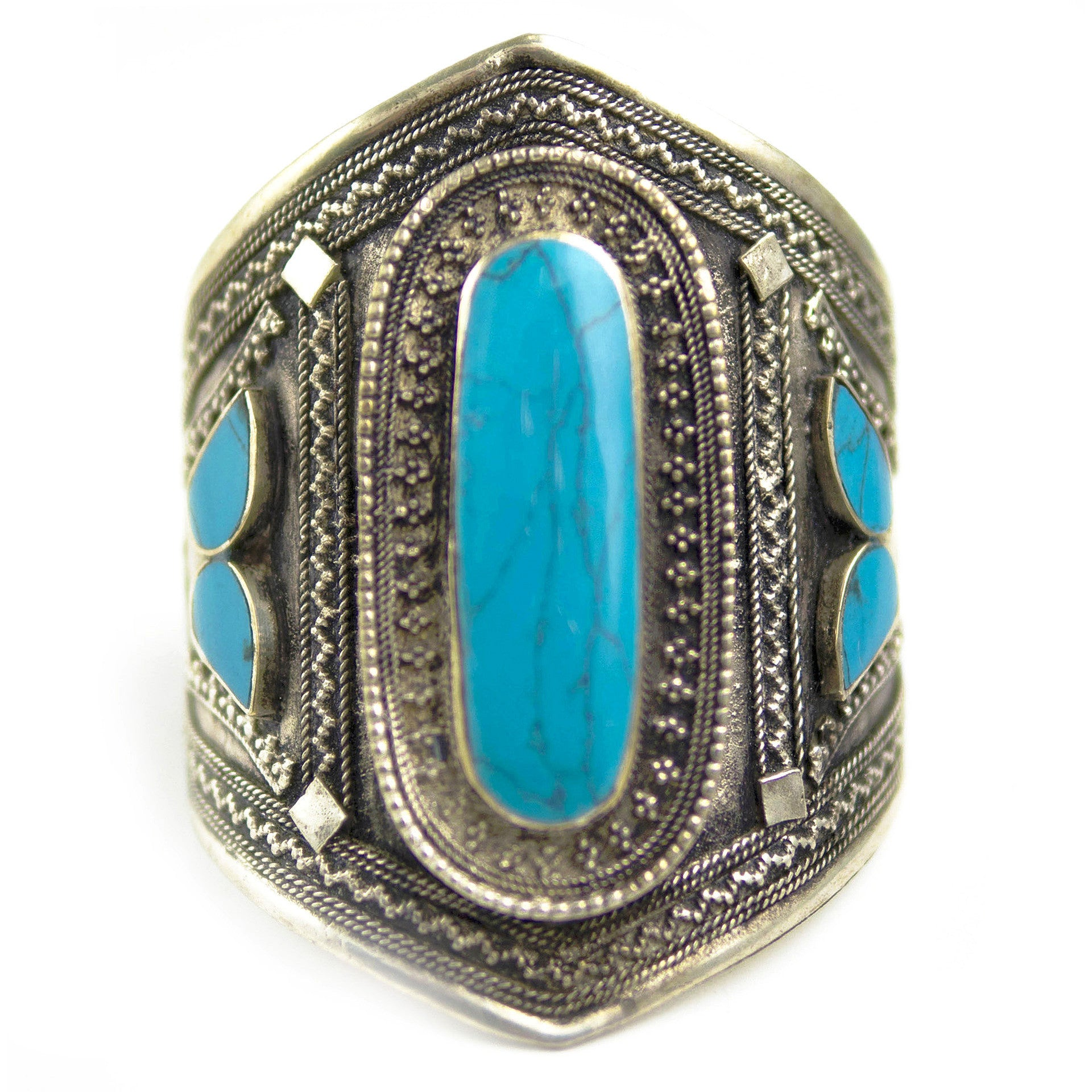 Gypsy Turquoise Vertical Stone Cuff Piece