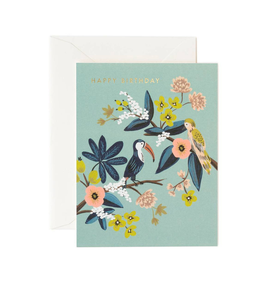Toucan Birthday Card / Ivory Envelope