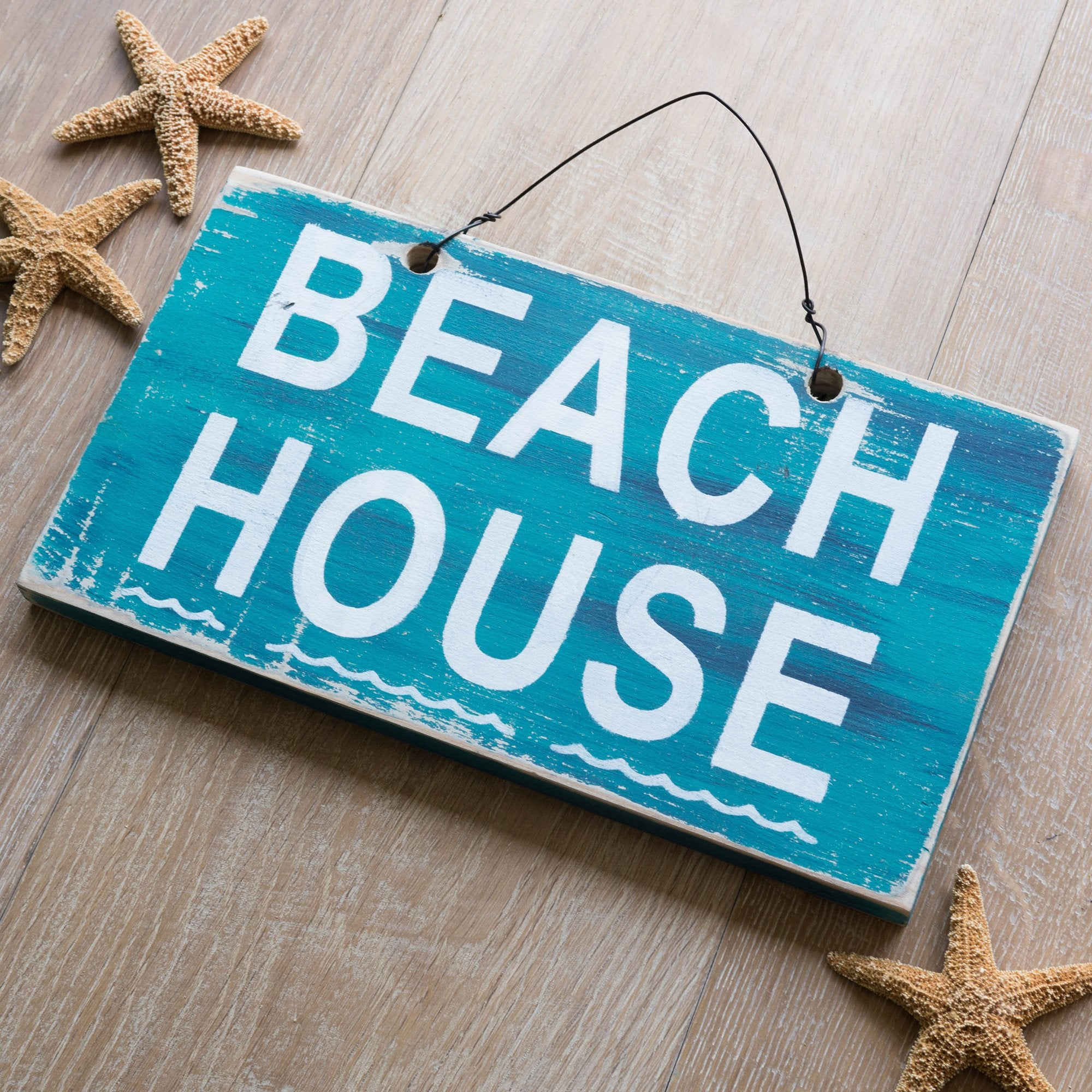 Beach House Waves Sign