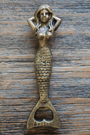 Resting Mermaid Bottle Opener / Gold