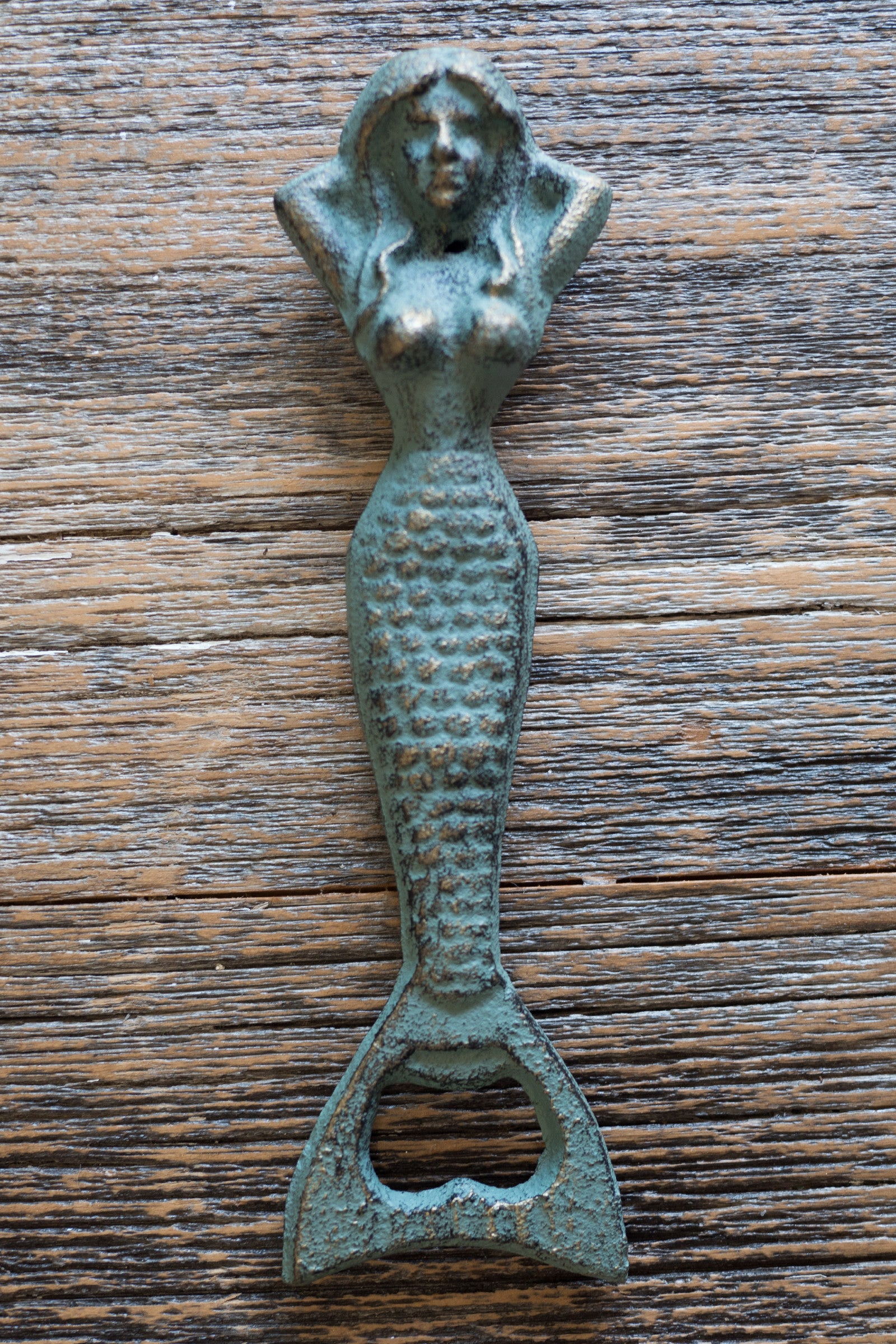 Resting Mermaid Bottle Opener / Seafoam