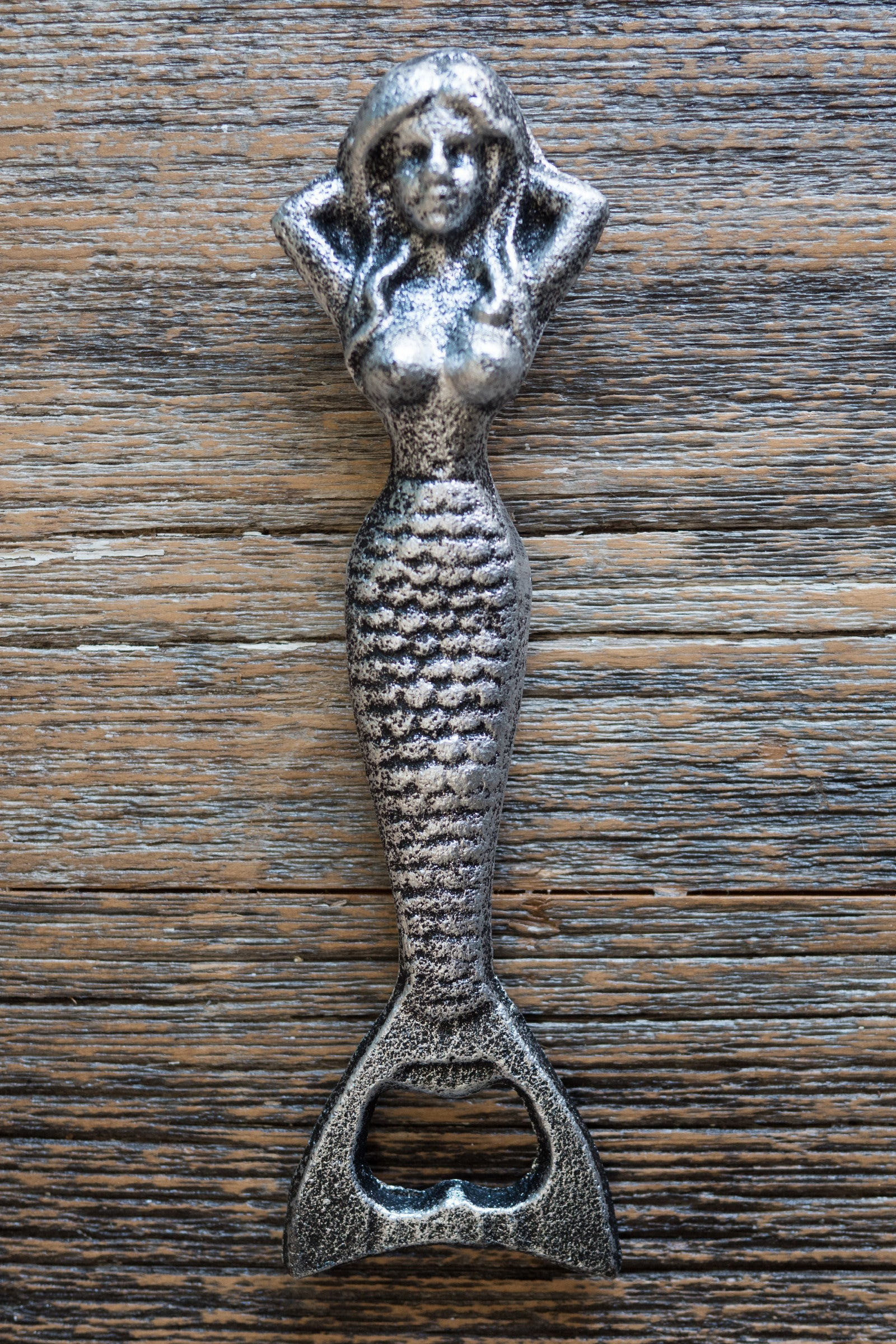 Resting Mermaid Bottle Opener / Silver