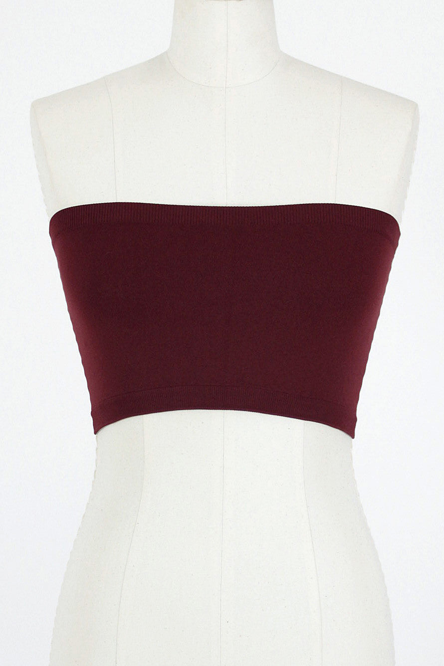 Seamless Tube Bra / Burgundy