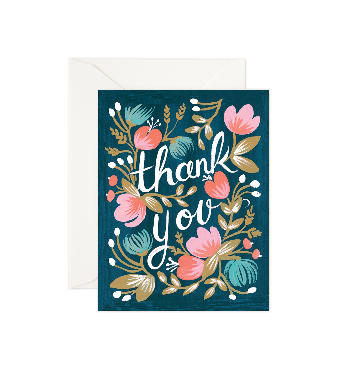 Midnight Garden Thank You Card / Ivory Envelope