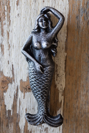 Mermaid Door Knocker / Silver