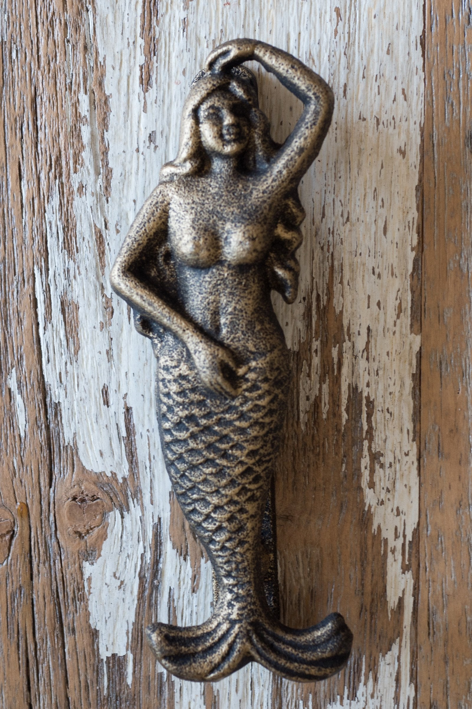 Mermaid Door Knocker / Gold