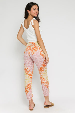 Spring Patch Harem Pant / Orange