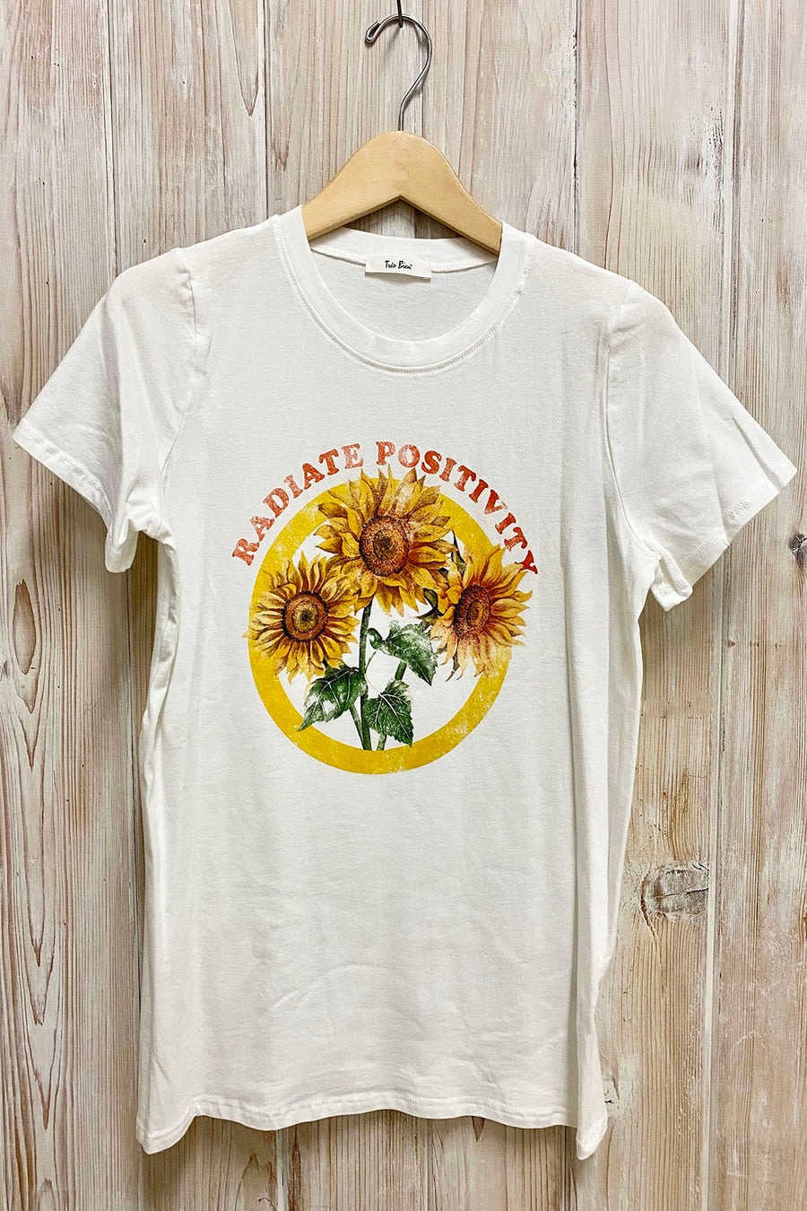 Radiate Positivity Graphic Tee / Ivory