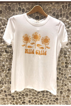 Three Flowers Wild Child Graphic Tee / Ivory