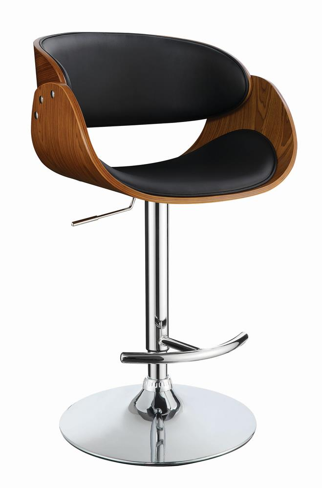 Modern Black Adjustable Bar Stool image