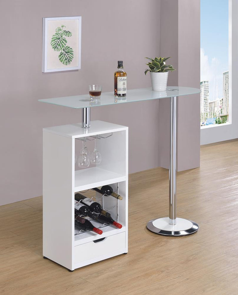 G120452 Contemporary White Bar Table image