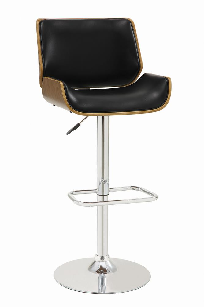 G130502 Contemporary Black Adjustable Height Bar Stool image