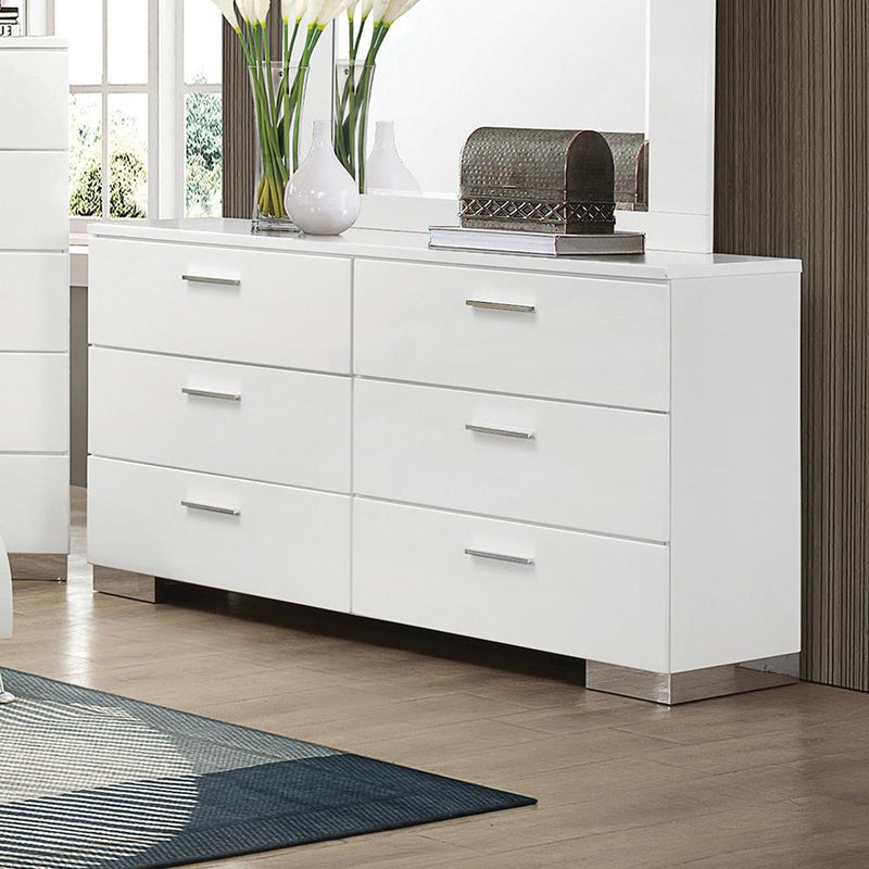 Felicity Contemporary Six-Drawer Dresser image