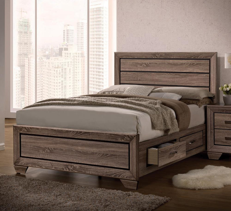G204193 Kauffman Transitional Washed Taupe California King Bed image