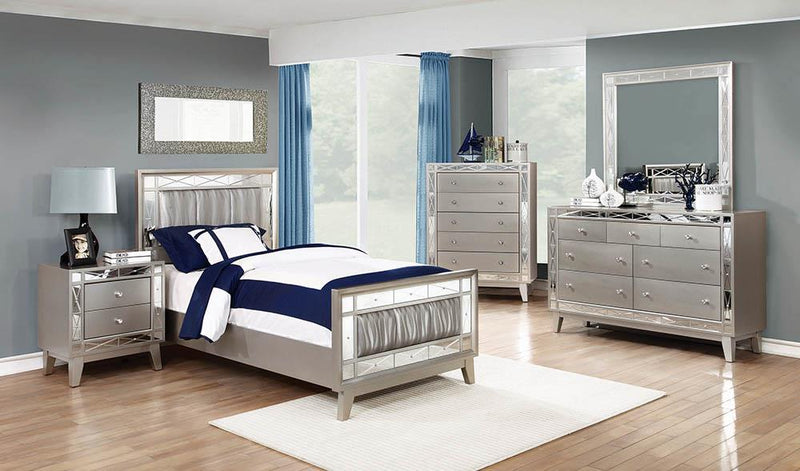 Leighton Contemporary Metallic Twin Bed image