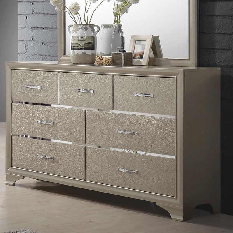 Beaumont Transitional Champagne Dresser image