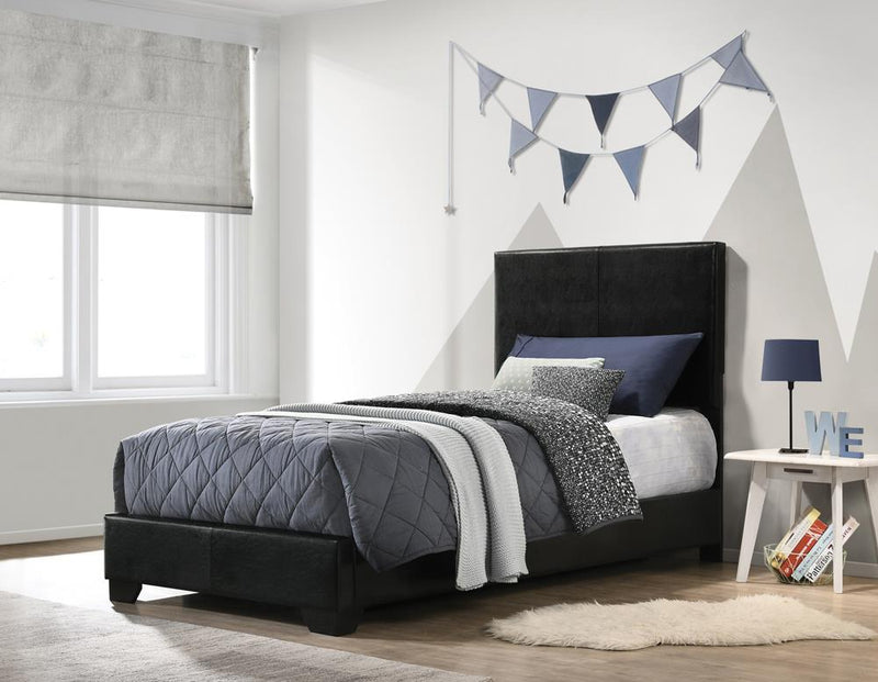 Conner Casual Black Upholstered Twin Bed image