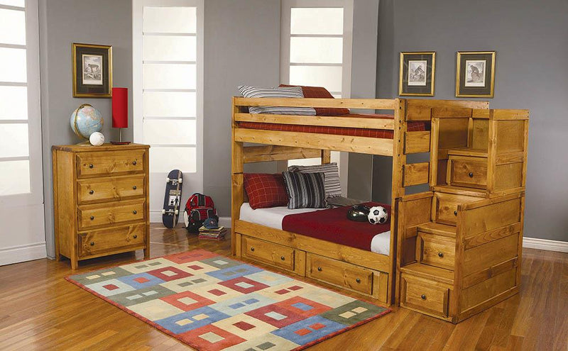 Wrangle Hill Amber Wash Twin-over-Twin Bunk Bed image