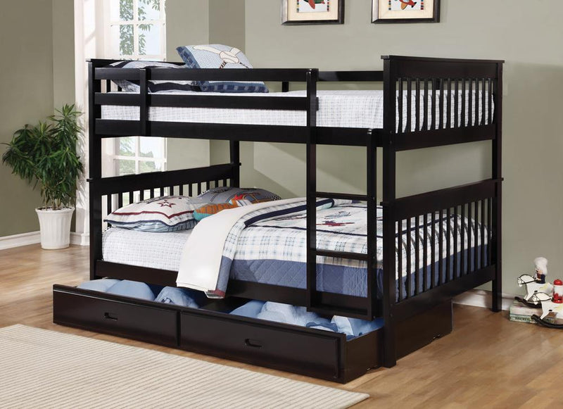 Chapman Traditional Black Full-over-Full Bunk Bed image