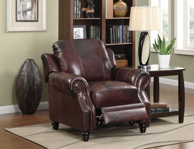 Princeton Traditional Burgundy Push Back Recliner image