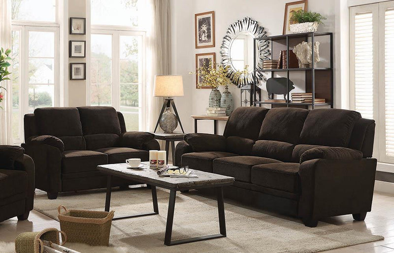 Northend Chocolate Two-Piece Living Room Set image