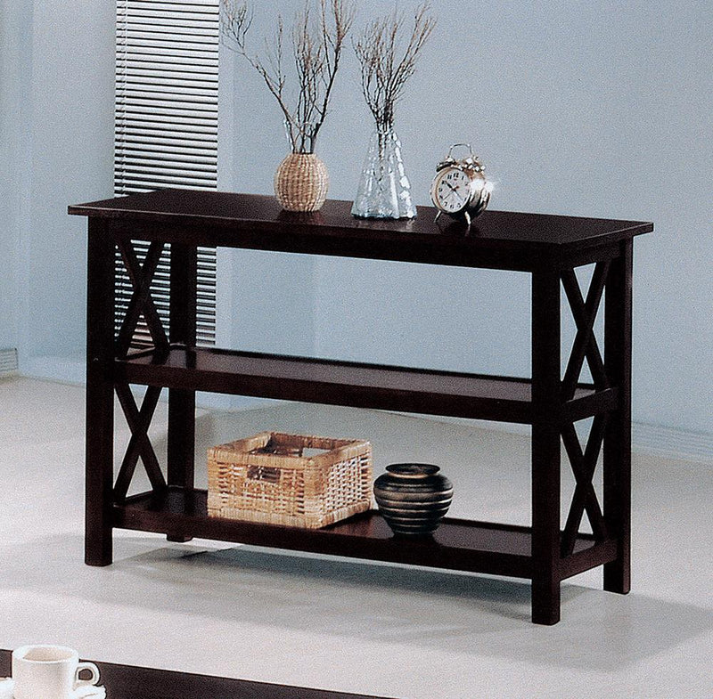 Merlot Double Shelf Sofa Table image