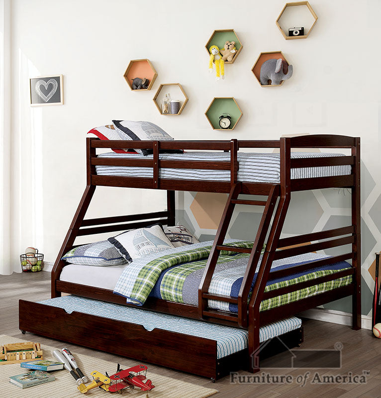 Elaine Wire-Brushed Warm Gray Twin/ Full Bunk Bed image