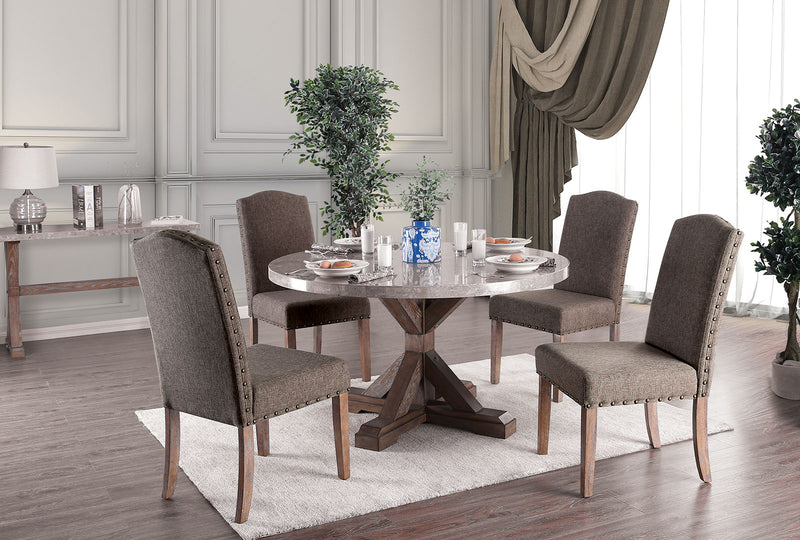 Bridgen Natural 5 Pc. Round Dining Table Set image