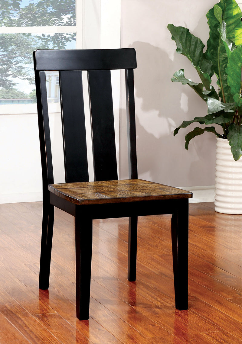 ALANA Antique Oak/Black Side Chair (2/CTN) image